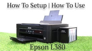 Epson L380 all-in-one  printer review   how to setup   how to use