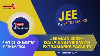 JEE Main 2020 - Daily Analysis with Extramarks Faculty.