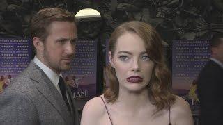 La La Land Gala Ryan Gosling Creeps Up On Emma Stone