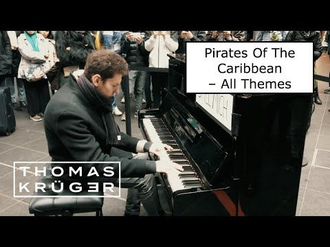 PIANO MEDLEY [Pirates Of The Caribbean – All Themes!] at Berlin Main Station – THOMAS KRÜGER
