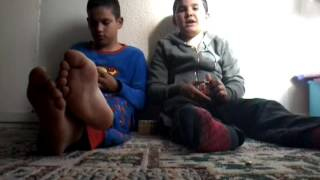 Doing  the  rubik's cube challenge  (with my cousin )