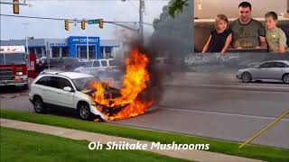 Kids React to Car on Fire and Explosion! -Oh Shiitake Mushrooms Flashback