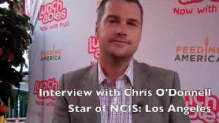 Chris O'Donnell Interview at Lunchables Fruit Event in Times Square (2)