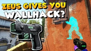 CS:GO - How the ZEUS gives you WALLHACK!