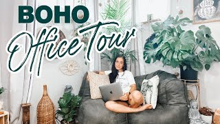 MY HOME OFFICE TOUR- BOHEMIAN STYLE. Plants, Boho, And Modern | Aubrey Meckiah