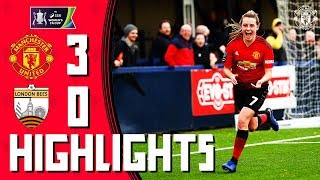 MU Women Highlights | Manchester United 3-0 London Bees | Women's FA Cup