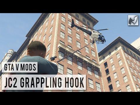 скачать мод для гта 5 Just Cause 2 Grappling Hook Mod - фото 5