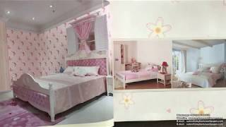 A40-18 Children Room Decoration Funny And Lovely Pattern Design Kids Wallpaper