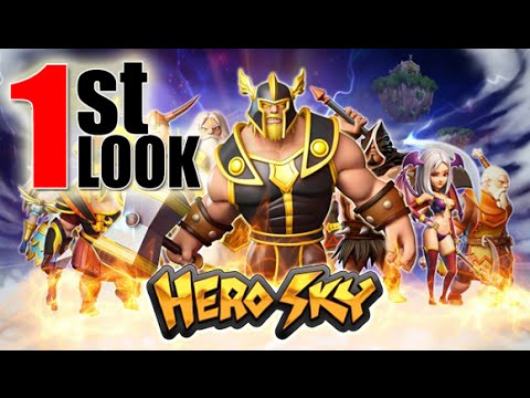 Hero Sky : Epic Guild Wars | Hero-centric Clash of Clans (1st Look iOS / Android Gameplay)