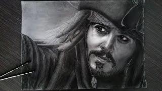 Drawing Captain Jack Sparrow Johnny Depp