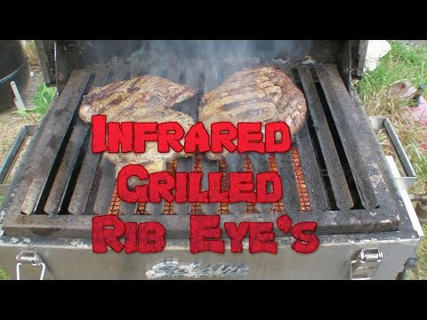Solaire Infrared Grilled Rib Eye Steaks & Shickone
