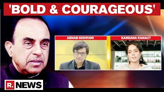 Subramanian Swamy Praises Kangana Ranaut After Interview With Arnab Goswami; Offers Legal Help  IMAGES, GIF, ANIMATED GIF, WALLPAPER, STICKER FOR WHATSAPP & FACEBOOK