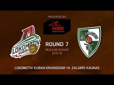 Highlights: RS Round 7, Lokomotiv Kuvan Krasnodar 80-50 Zalgiris Kaunas