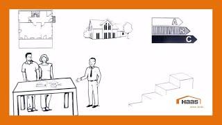 Das Video erklärt Ihnen in nur drei Minuten, wie der Bauprozess von einem Fertighaus bei Haas Fertigbau abläuft.