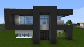 Minecraft Modernes Haus Mit Wasserfall Bauen X Tutorial - Minecraft hauser schnell bauen