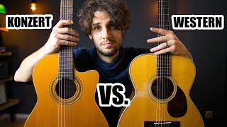 Westerngitarre oder Konzertgitarre I Vielleicht sogar beide?