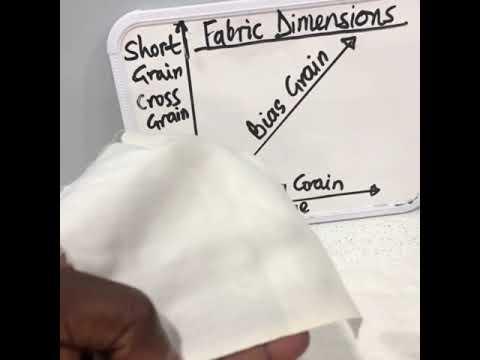 Woven fabric dimensions & behavior.