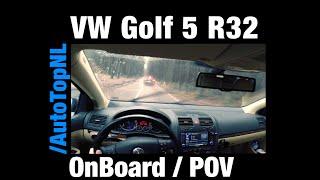 VW Golf 5 R32 w/ Supersprint FAST! OnBoard / POV CHASING! Passat R36