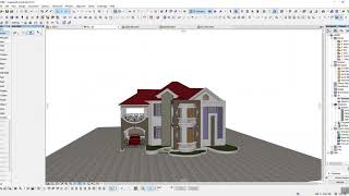 preview picture of video 'Archicad classical villa'