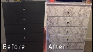 Under $25 Marble Chest Transformation| DIY
