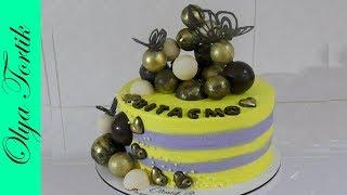 ШОКОЛАДНЫЕ ШАРЫ МК Идеи для шоколадного декора Как выровнять торт кремом