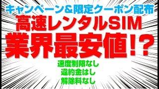 【業界最安値!?】レンタルSIM価格戦争勃発か!【NOZOMI Wi-Fi レンタルSIM】