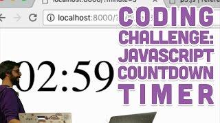 CodingChallenge#66:JavaScriptCountdownTimer