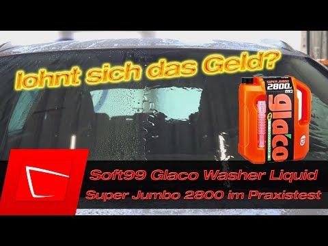 SOFT99 Glaco Washer Liquid Jumbo Scheibenreiniger im Test - Luxus Scheibenfrostschutz Konzentrat