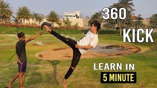 How to 360 kick   Tutorial   Hindi