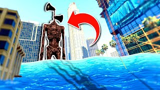 SIREN HEAD INVADES The CITY And DESTROYS THE WORLD With TSUNAMI - GTA 5 Mods Funny Gameplay