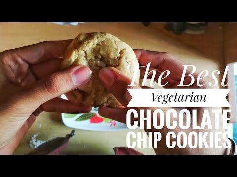 Easiest and The Tastiest Vegetarian Chocolate Chip Cookies