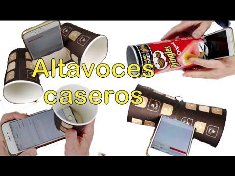 Amplificador casero o altavoz, para el móvil o para el celular. Accesorios