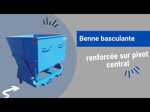 Video Youtube Benne renforcée sur pivot central - Capacité 510 à 1285 litres - Charge inférieure à 2500 kg