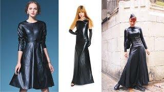 201809007 Malika Menard in leather dress - hmong video