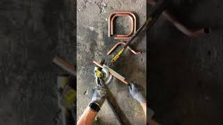 P B Plumber  How to bend copper pipe, 90 bends