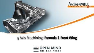 Frontflügel eines Formel 1-Autos in Aluminium