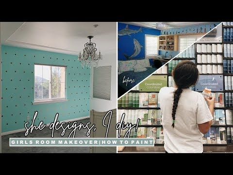 DIY Girls Bedroom Makeover   Phase 1: How to Paint A Room