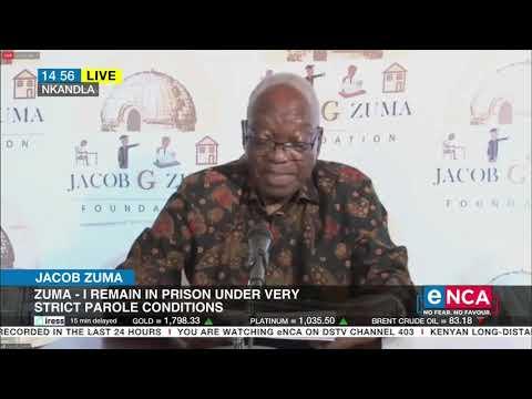 Jacob Zuma Zuma addresses supporters from Nkandla