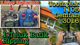 "Toothpick 1105 3"" gemfan 3016 + explaination setup. Bahasa ???????? #toothpick #fpvaddiction"