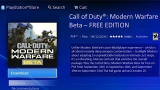 How to Download Modern Warfare Beta For Free (NO CODE NEEDED) How to Play Modern Warfare Beta PS4