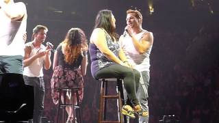 On stage with 98 degrees My everything @ Barclay Center 6.16.13