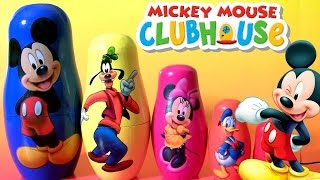 Mickey Mouse Clubhouse Nesting Toys Surprise with Goofy Minnie Donald Stacking Cups by TOYS CLUB