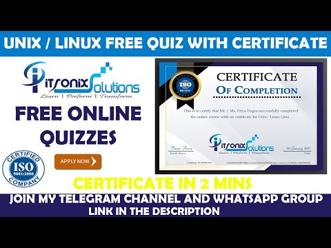 National Level E-Certificate Quiz on Unix / Linux | Free Quiz ...