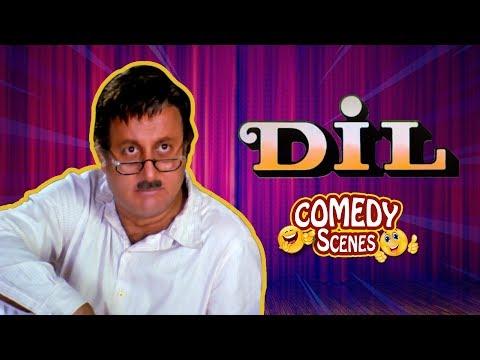 Best comedy scenes - Dil (1990) Movie - Aamir Khan - Madhuri Dixit - Anupam Kher