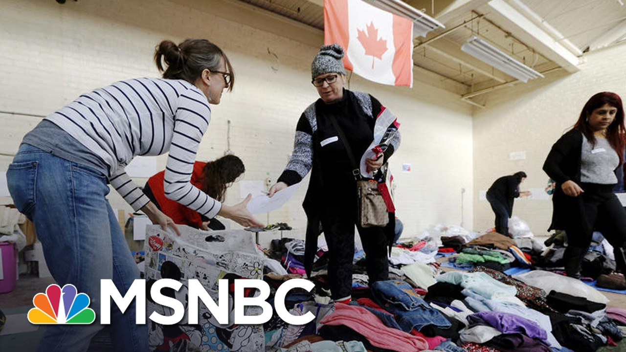 Surge Of Refugees Crossing Canadian Border | Andrea Mitchell | MSNBC thumbnail