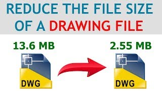 REDUCE AUTOCAD DRAWING FILE SIZE  |  AUTOCAD WBLOCK COMMAND