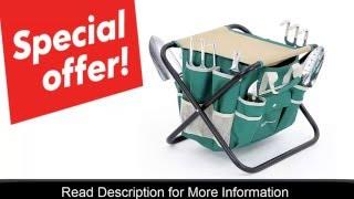 Songmics 8 Piece Garden Tool Set with Tool Bag & Folding stool Review