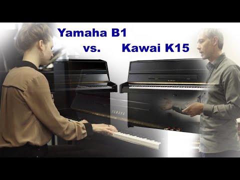 Vergleichstest Yamaha B1 vs. Kawai K15 Klavier, upright piano sound Klang Test, comparison