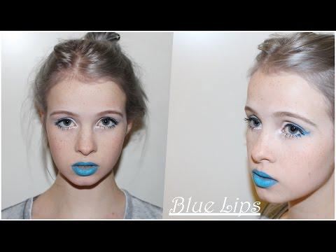 blauer Lippenstift x