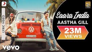 Saara India - Official Lyric Video | Aastha Gill | Priyank Sharma